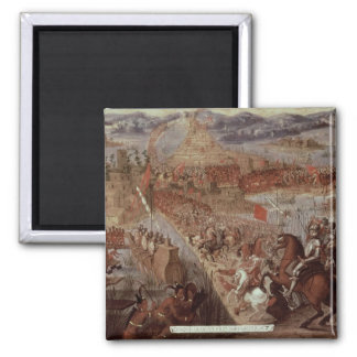 The Conquest of Tenochtitlan Square Magnet