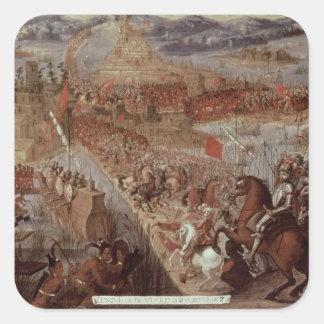 The Conquest of Tenochtitlan Square Sticker