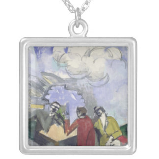 The Conquest of the Air, 1913 Silver Plated Necklace