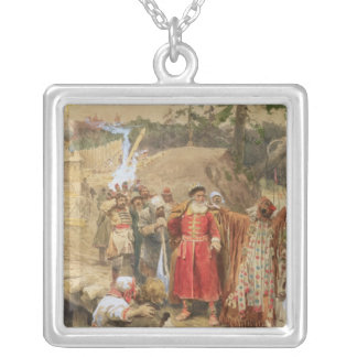 The Conquest of the New Regions in Russia, 1904 Silver Plated Necklace