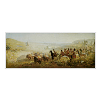 The Conquest of the Prarie by Irving R. Bacon Poster