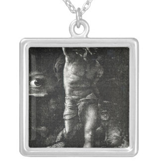 The Conscience or, The Eye Watching Cain Silver Plated Necklace