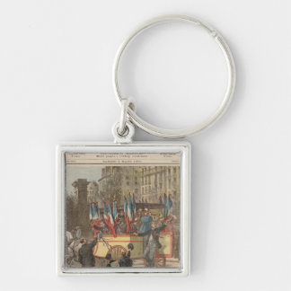 The Conscripts Silver-Colored Square Key Ring