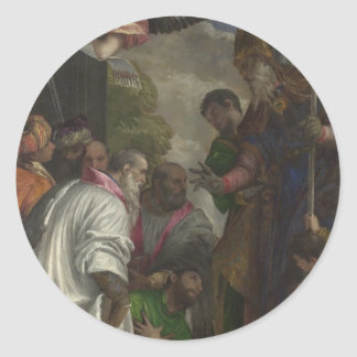 The Consecration of St Nicholas by Paolo Veronese Round Sticker