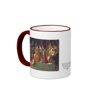 The Consecration of the Emperor Napoleon 1 Ringer Mug