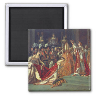 The Consecration of the Emperor Napoleon 1 Square Magnet