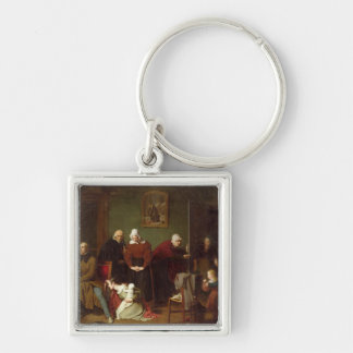 The Consequences of the Seduction, 1824 Silver-Colored Square Key Ring