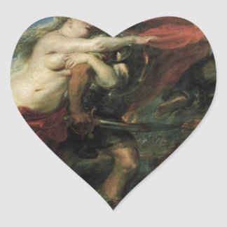 The Consequences of War by Peter Paul Rubens Heart Sticker