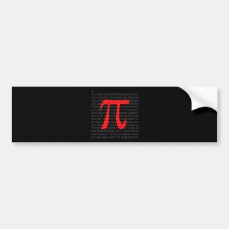 The Constant Pi Bumper Sticker