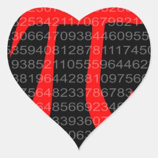 The Constant Pi Heart Sticker