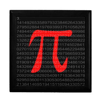 The Constant Pi Large Square Gift Box