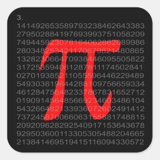 The Constant Pi Square Sticker