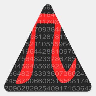The Constant Pi Triangle Sticker