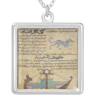 The Constellations of the Dog and the Keel Silver Plated Necklace