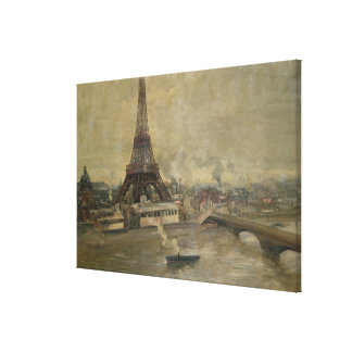The Construction of the Eiffel Tower Canvas Print