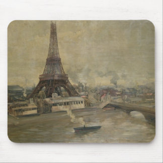 The Construction of the Eiffel Tower Mouse Mat