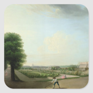 The Construction of the Place Louis XV Square Sticker