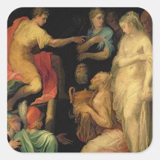 The Continence of Major Scipio (237-183 BC) (oil o Square Sticker