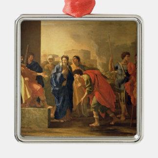 The Continence of Scipio, 1640 Silver-Colored Square Decoration