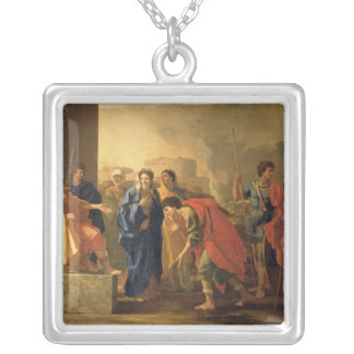 The Continence of Scipio, 1640 Silver Plated Necklace