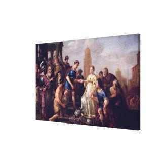 The Continence of Scipio  1643 Canvas Print