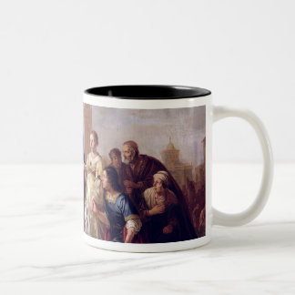 The Continence of Scipio  1643 Two-Tone Coffee Mug