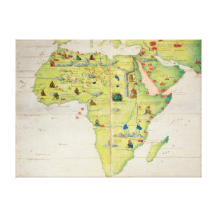 The Continent of Africa Canvas Print
