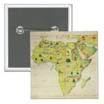 The Continent of Africa Pinback Buttons