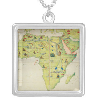 The Continent of Africa Silver Plated Necklace