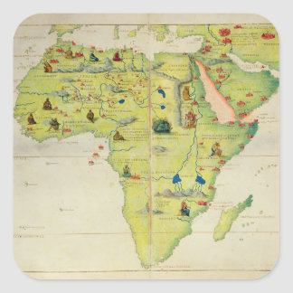The Continent of Africa Square Sticker