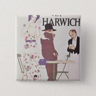 The Continent Via Harwich 15 Cm Square Badge