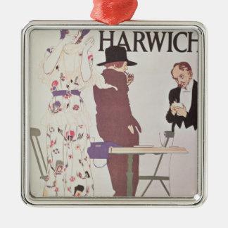 The Continent Via Harwich Silver-Colored Square Decoration