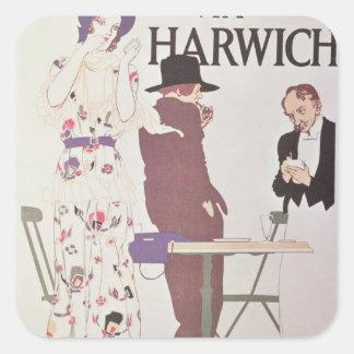 The Continent Via Harwich Square Sticker