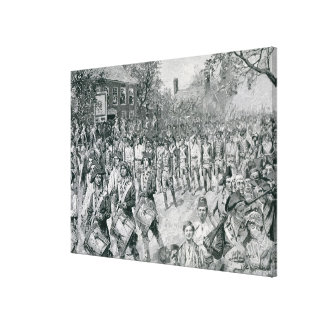 The Continental Army Marching Down the Old Gallery Wrap Canvas