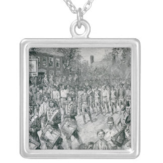 The Continental Army Marching Down the Old Silver Plated Necklace