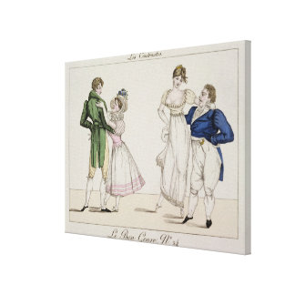 The Contrasts, plate 24 from 'Le Bon Genre', 1811 Canvas Print