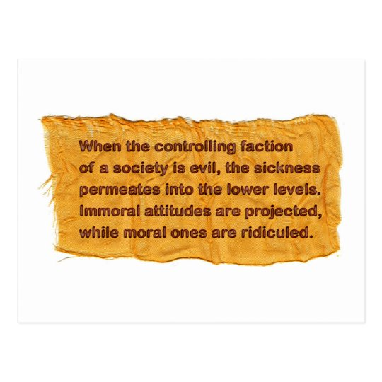 The Controlling Faction Mini Art Postcard