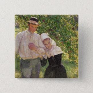 The Convalescent, 1896 15 Cm Square Badge