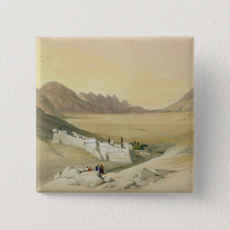 The Convent of St. Catherine, Mount Sinai 15 Cm Square Badge