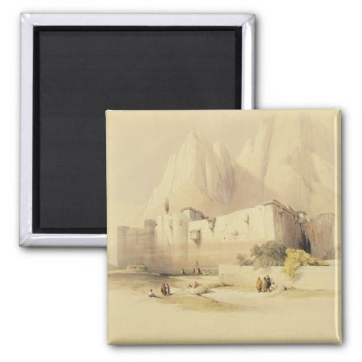 The Convent of St. Catherine, Mount Sinai, Februar Refrigerator Magnets