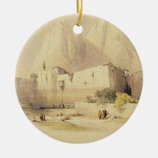 The Convent of St. Catherine, Mount Sinai, Februar Round Ceramic Decoration