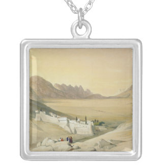 The Convent of St. Catherine, Mount Sinai Silver Plated Necklace