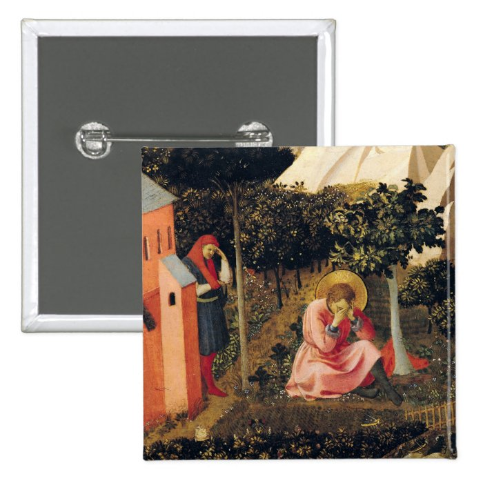 The Conversion of St. Augustine 15 Cm Square Badge