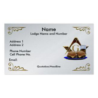 122 Masonic Lodge Business Cards and Masonic Lodge