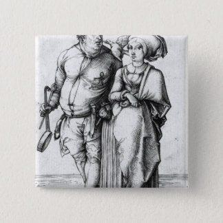 The Cook and his Wife 15 Cm Square Badge