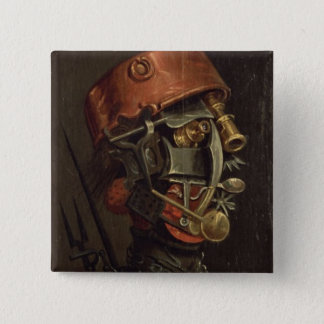 The Cook (oil on panel) 15 Cm Square Badge