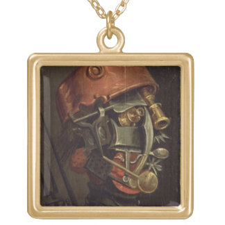 The Cook (oil on panel) Gold Plated Necklace