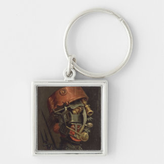 The Cook (oil on panel) Key Ring