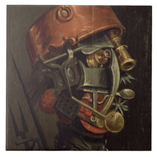 The Cook (oil on panel) Tile