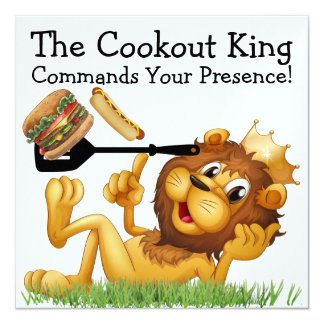 The Cookout King - SRF 13 Cm X 13 Cm Square Invitation Card